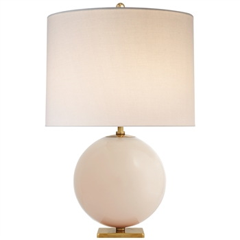 Ciao Bella Elsie Table Lamp in Blush Cream Shade