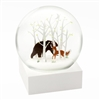 Fox & Bear Snow globe Ciao Bella Petoskey Michigan