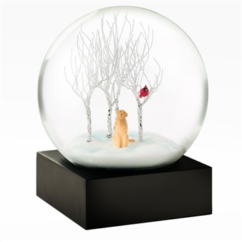 Lab Dog In the Woods Snow globe Ciao Bella Petoskey Michigan