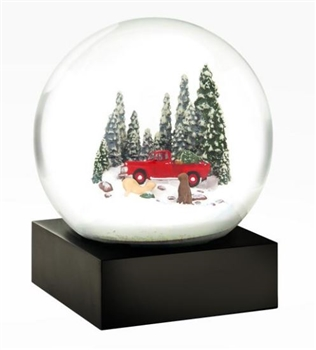 Red Truck with Dogs Snowglobe Ciao Bella Petoskey