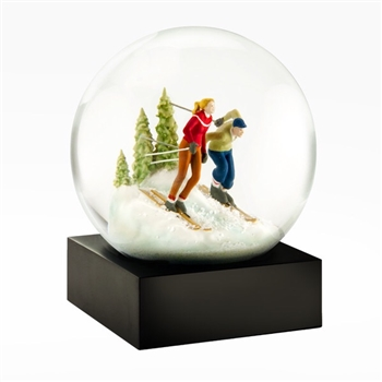 Skiers Snowglobe Ciao Bella Petoskey Michigan