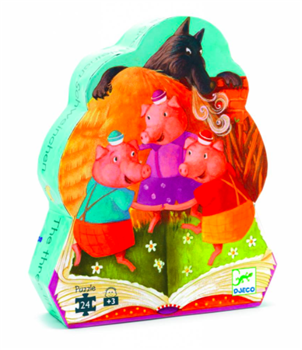 Silhouette 3 Little Pigs Puzzle 24 pc.