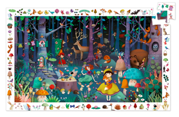 Observation Puzzle- Enchanted Forest 100pc.