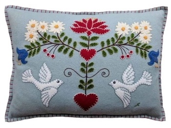 Jan Constantine Edelweiss Doves Pillow Petoskey