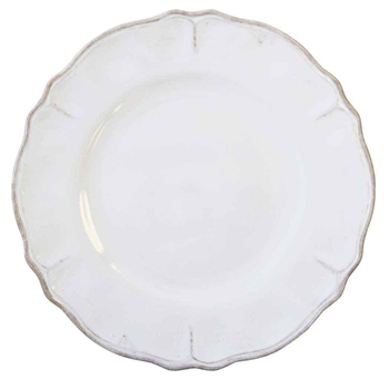 "Rustica Antique White Melamine Le Cadeaux Antique White 11"" Dinner Plate image"