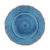 "Antiqua Blue Melamine 11"" Dinner Plate by Le Cadeaux"