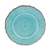 "Antiqua Turq Melamine 11"" Dinner Plate by Le Cadeaux, Dishwasher Safe"