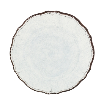 """Antiqua White"" Melamine Dinner Plate by Le Cadeaux"