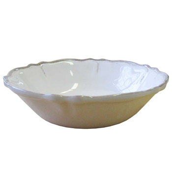 "Rustica Antique White Melamine Le Cadeaux White 7.5"" Cereal Bowl  image"