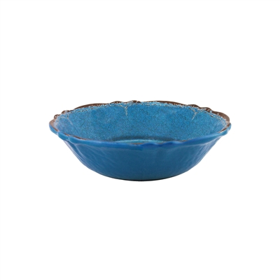 """Antiqua Blue"" Melamine Cereal bowl 7.5"" by Le Cadeaux"