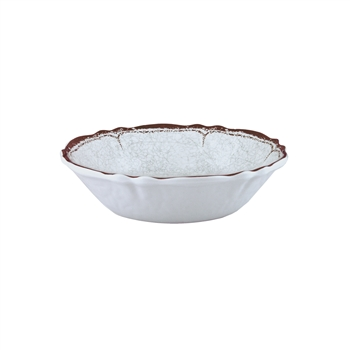 """Antiqua White"" Melamine 7.5"" Cereal Bowl by Le Cadeaux"