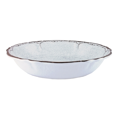 """Antiqua White"" Melamine 13.75"" Salad Bowl by Le Cadeaux"