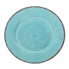 "Antiqua Turq Melamine 16"" Family Style Platter by Le Cadeaux, Dishwasher Safe"