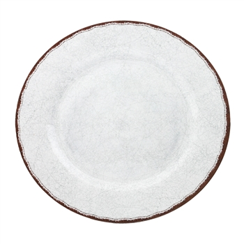 """Antiqua White"" Melamine 16"" Oval Family Platter by Le Cadeaux"
