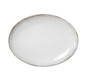 Le Cadeaux Provence Solid White medium melamine coupe oval platter