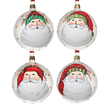 Italian Glass Tree Ornament: Old St. Nick from Vietri