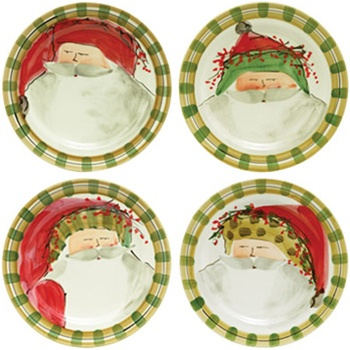 Vietri Old St. Nick: Asst. Dinner Plates Set/4