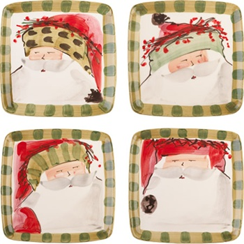 Assorted Old St.Nick Salad Plates from Vietri