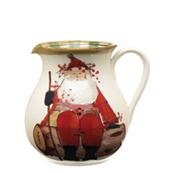 Round Body Pitcher: Old St. Nick from Vietri, 10 cup