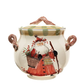 Biscotti Jar from Vietri's Old St. Nick Collection