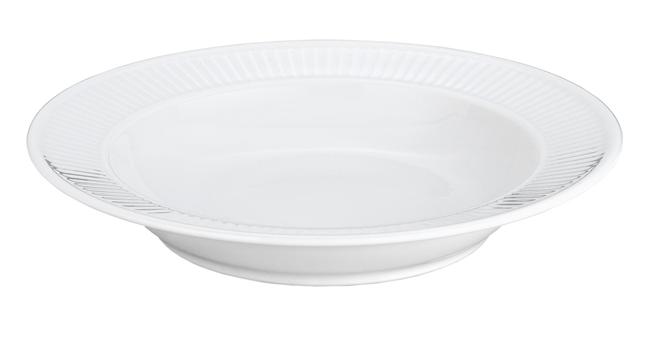 Storslåede Pillivuyt Plisse Soup Plate French Porcelain RF15