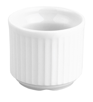 Pillivuyt Plisse Egg Cup French Porcelain