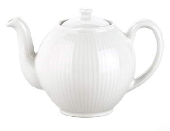 Pillivuyt Plisse Teapot French Porcelain