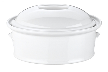 Pillivuyt Oval Casserole with Lid French Porcelain