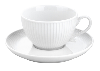 Pillivuyt Plisse Cup and Saucer French Porcelain