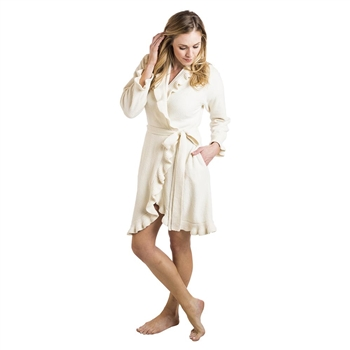 Ciao Bella Softies Ivory Ruffle Robe Petoskey Michigan