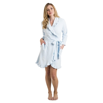 Ciao Bella Softies Blue Ruffle Robe Petoskey Michigan
