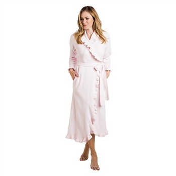 Softies Ruffle Robe Long Pink