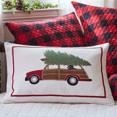 Christmas Woody Pillow Ciao Bella Petoskey
