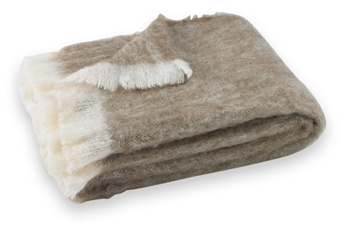 "Driftwood: Hand Brushed Alpaca Throw.  51"" x 72"". Crafted from naturally occurring colors so no dyes are needed, this Brushed Alpaca Throw is silky soft, naturally repels dirt and retains heat. Alpaca fiber is non-irritating and hypo-allergenic."