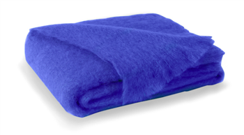 Ciao Bella Mohair Throw Cobalt