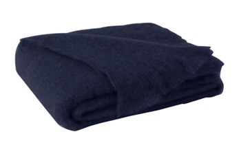 Ciao Bella Mohair Throw Navy