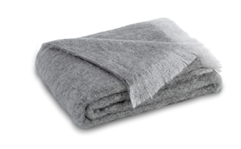 Ciao Bella Mohair Throw Pewter