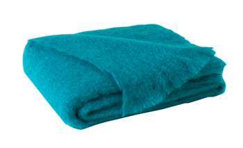 Ciao Bella Mohair Throw Turquoise