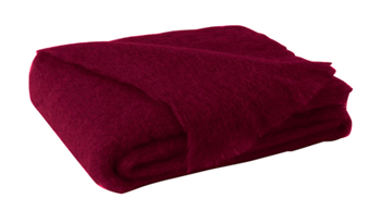 Ciao Bella Mohair Throw Cranberry