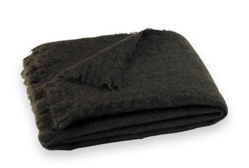 Brushed Mohair Blanket Throw: DarkChocalate