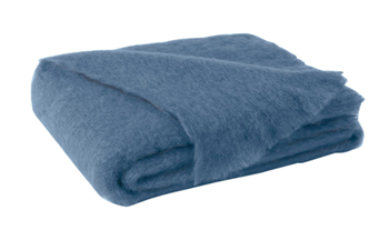 Ciao Bella Mohair Throw Lake