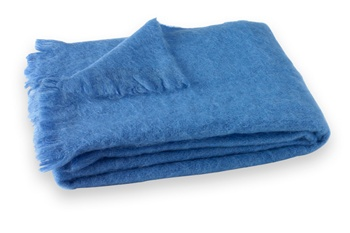 Brushed Mohair Blanket Throw: Provence