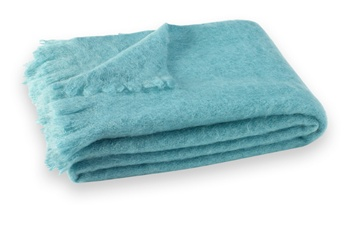 Brushed Mohair Blanket Throw:Sea Spray