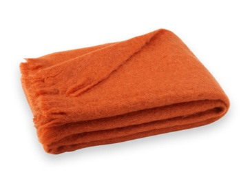 Brushed Mohair Blanket Throw: Sienna