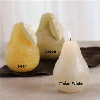 "Pear Timber candle, 3""w x 4""h, 24 Hrs Burn Time, Unscented"